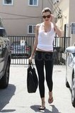 Miranda Kerr wore dark black shades in West Hollywood as she went to the gym.