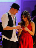Channing Tatum and Jenna Dewan on stage at the Revlon Concert for the Rainforest Fund at Carnegie Hall in NYC.