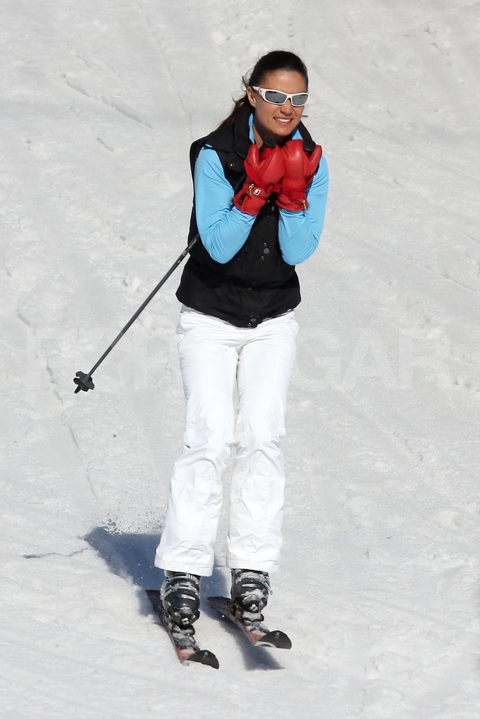 Pippa Middleton flew down the slopes on vacation in France.