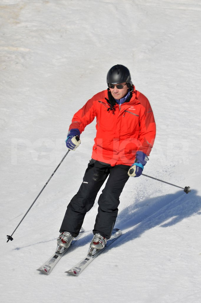 Michael Middleton skied down the mountain while on vacation in France.