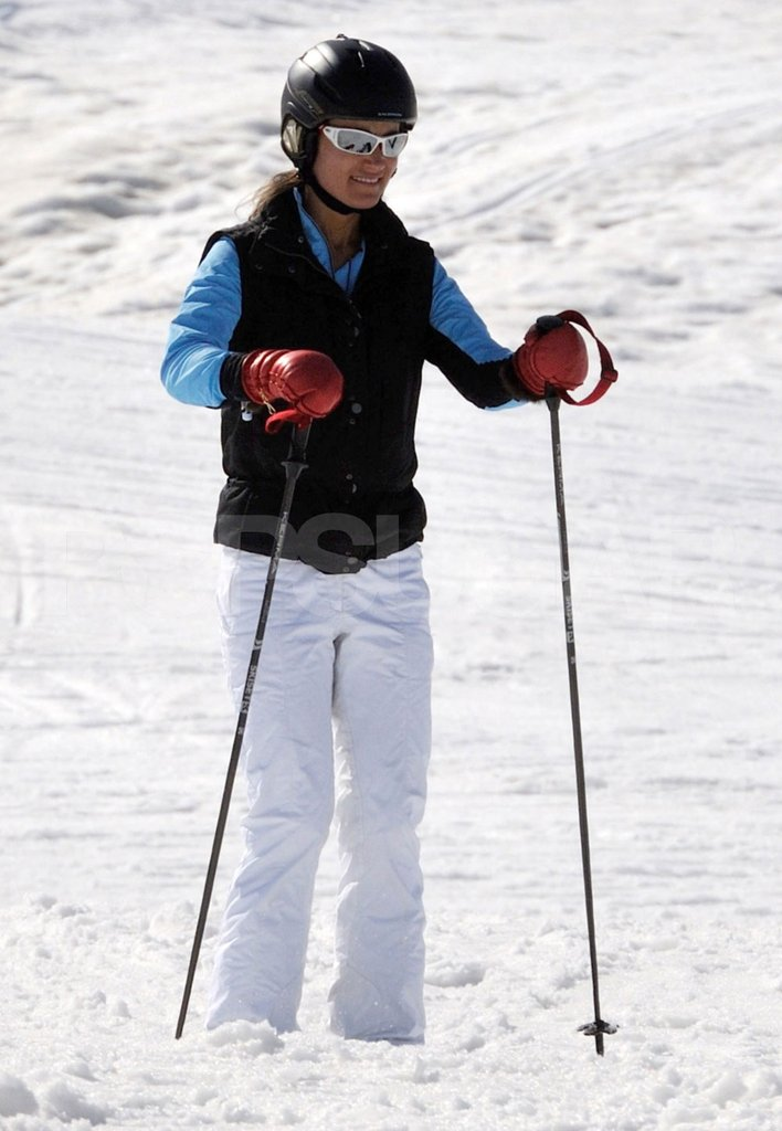 Pippa Middleton on a ski vacation in France with her family.