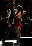 Channing Tatum and Jenna Dewan shared a passionate moment during their dance number at the Revlon Concert for the Rainforest Fund at Carnegie Hall in NYC.
