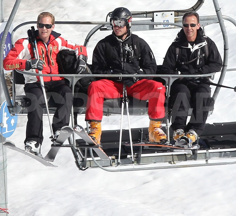 Prince William and George Percy on a ski vacation in France.