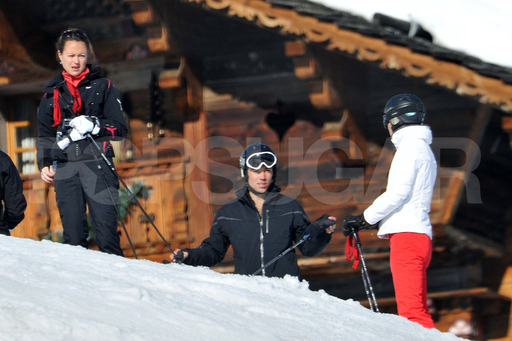 Kate Middleton got ready to ski for the afternoon on vacation in France.