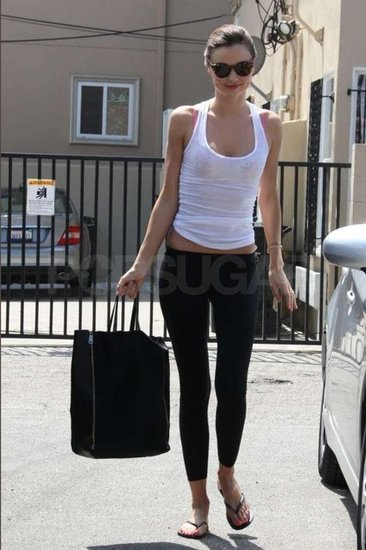 Miranda Kerr helped maintain her fabulous figure by working out in West Hollywood.