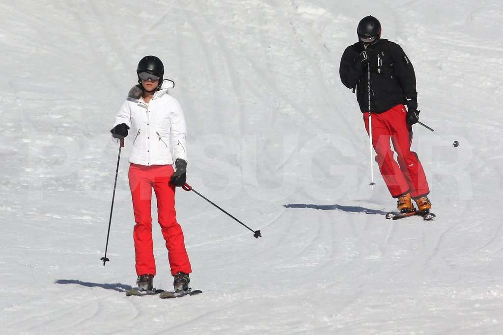Kate Middleton and Prince William took to the slopes together on vacation in France.