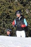 Pippa Middleton wore a black vest for her ski vacation in France.