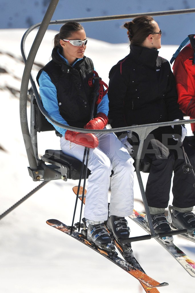 Pippa Middleton hung out on the chairlift in France.