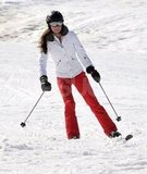 Kate Middleton carved on her skis down the mountain in France.