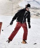 Prince William put his skills to the test on the mountain in France.