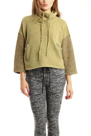 Sporty and two-toned with cool cropped sleeves? It's official, we love this pullover. 3.1 Phillip Lim Boxy Pullover Sweater ($242, originally $375)