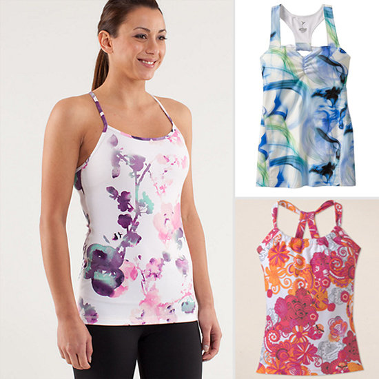 12 Pretty Printed Workout Tanks For Spring