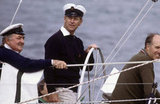 Prince Philip competed for the Queens Cup at Cowes Regatta on Aug. 1, 1982.