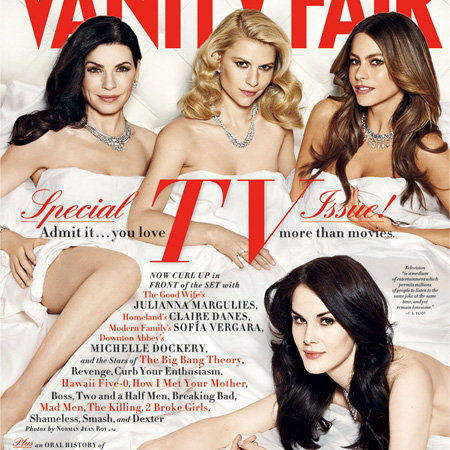 Vanity Fair TV Issue 2012 Cover With Julianna Margulies, Sofia Vergara, Claire Danes, Michelle Dockery