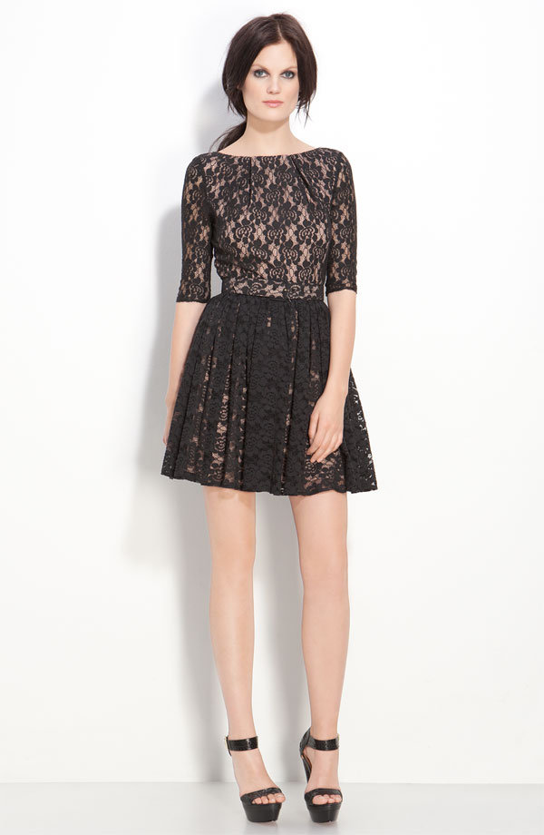 Rachel Zoe belted lace dress ($425)