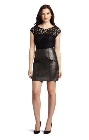 Frock! by Tracy Reese leather and lace dress ($220)