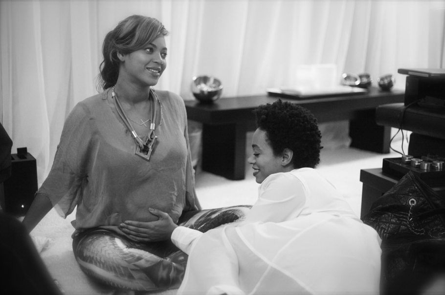 Beyoncé Knowles shared a sweet moment