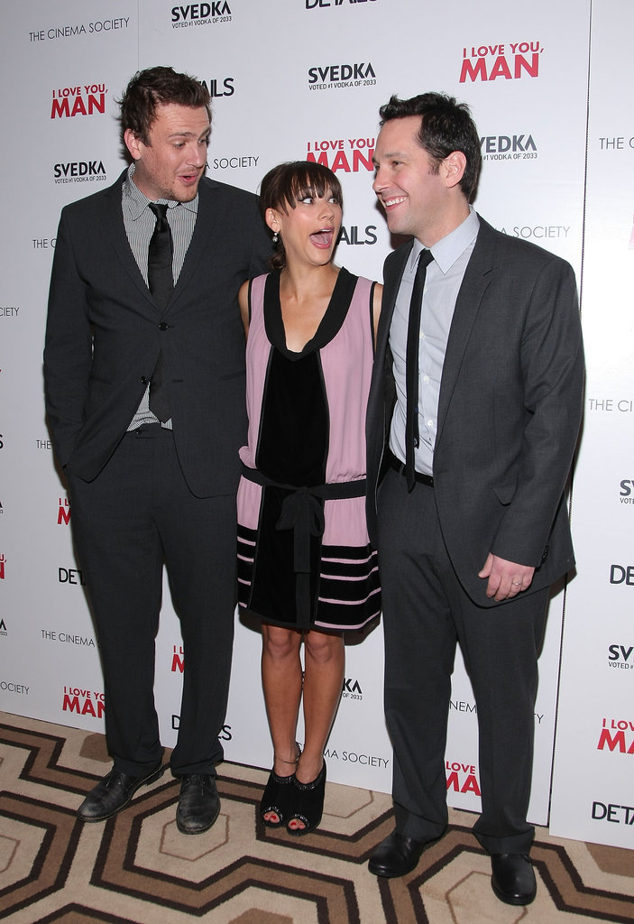 Paul Rudd, Rashida Jones, and Jason Segel teamed up for a premiere of I Love You Man in March 2009.