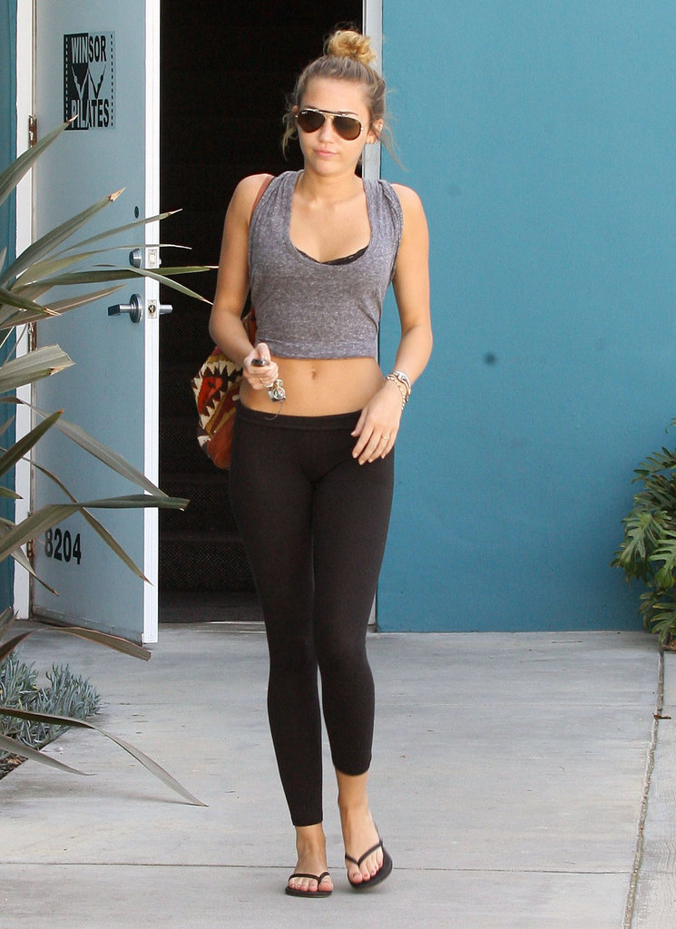 Miley Cyrus left the gym.