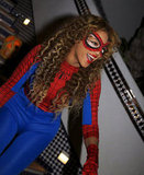 Beyoncé dressed up as SpiderMan.