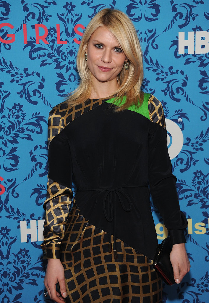Claire Danes wore a dress by Preen to the premiere of HBO's Girls in NYC.