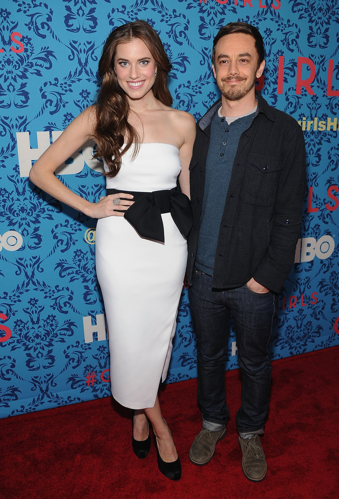 Allison Williams and Jorma Taccone at the premiere of HBO's new series Girls in NYC.