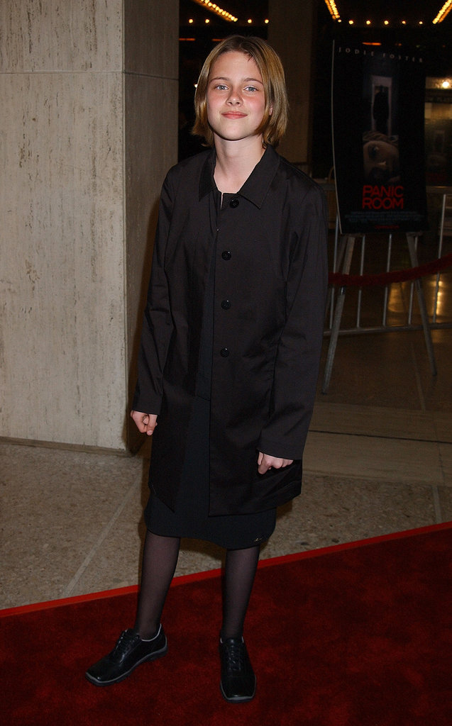 A young Kristen Stewart posed at the LA premiere of Panic Room in March 2002.