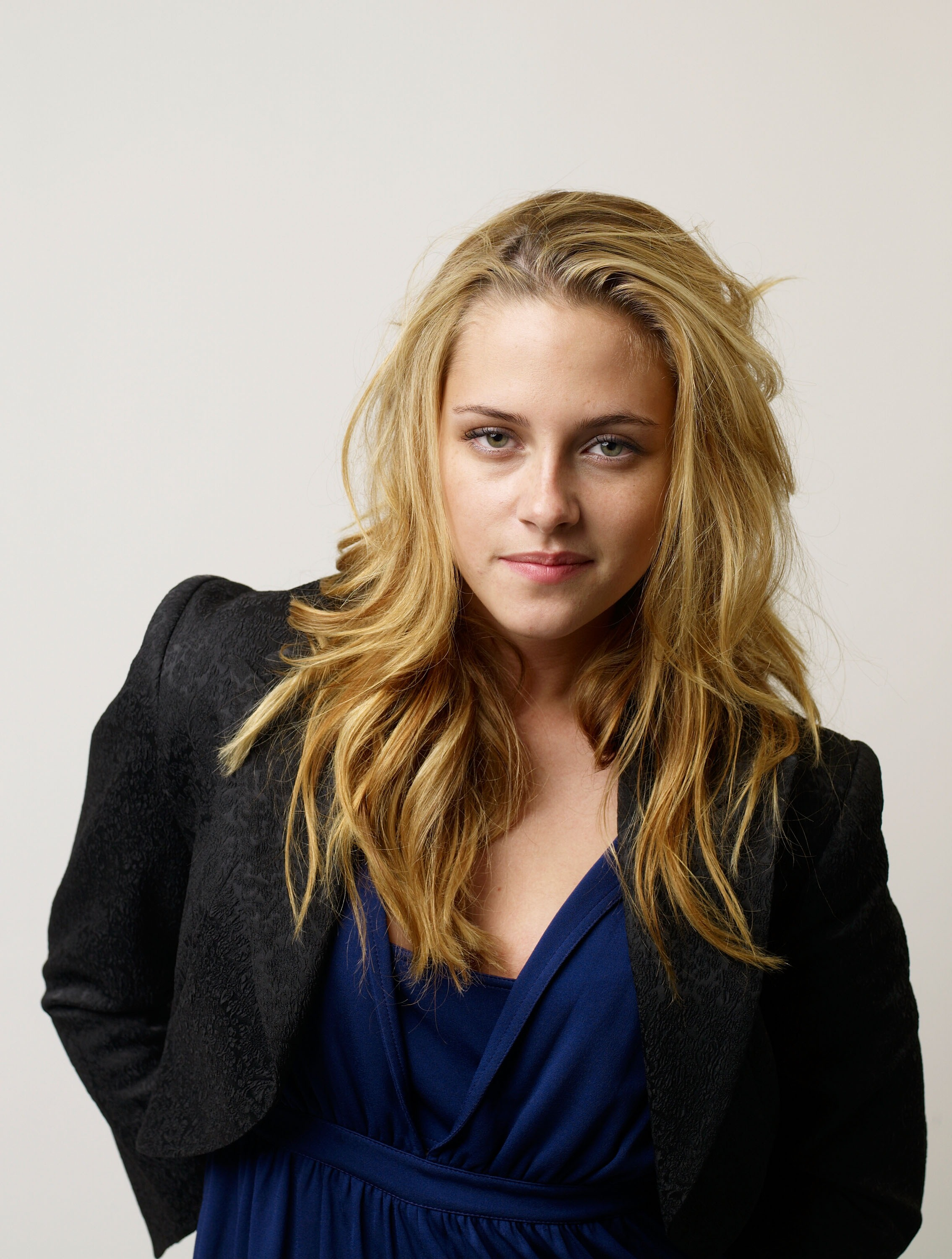 Kristen Stewart let her blond hair down and posed for a portrait for Into the Wild during the Toronto International Film Festival in September 2007.