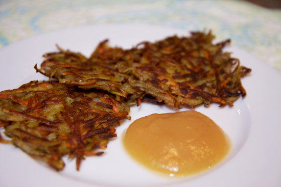 Who says latkes are just for Hanukkah? Carrot rosemary potato latkes make for a happy and healthier version of the much-adored appetizer anytime of the year.