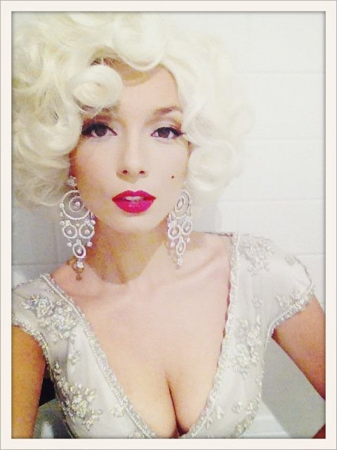 Channelling Marilyn Monroe for EMI boss Mark Poston's 40th.
