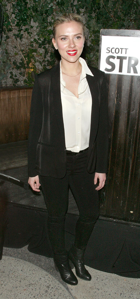 Scarlett Johansson at a party she hosted at the Maritime Hotel for Scott Stringer, a 2013 NYC mayoral candidate.