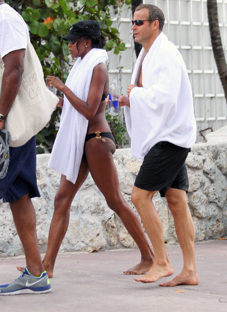 Naomi Campbell and Vladislav Doronin soaked up the sun in Miami.