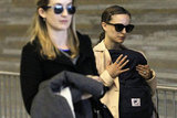 Natalie Portman traveled through the airport in Paris accompanied by son Aleph.