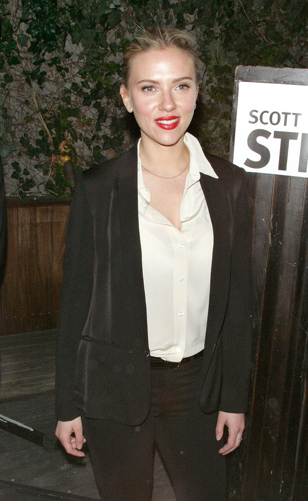 Scarlett Johansson posed at a party she hosted in support of family friend Scott Stringer, a 2013 NYC mayoral candidate.