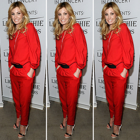 Get the breakdown on Faith Hill's gorgeous red look — and shop the look.