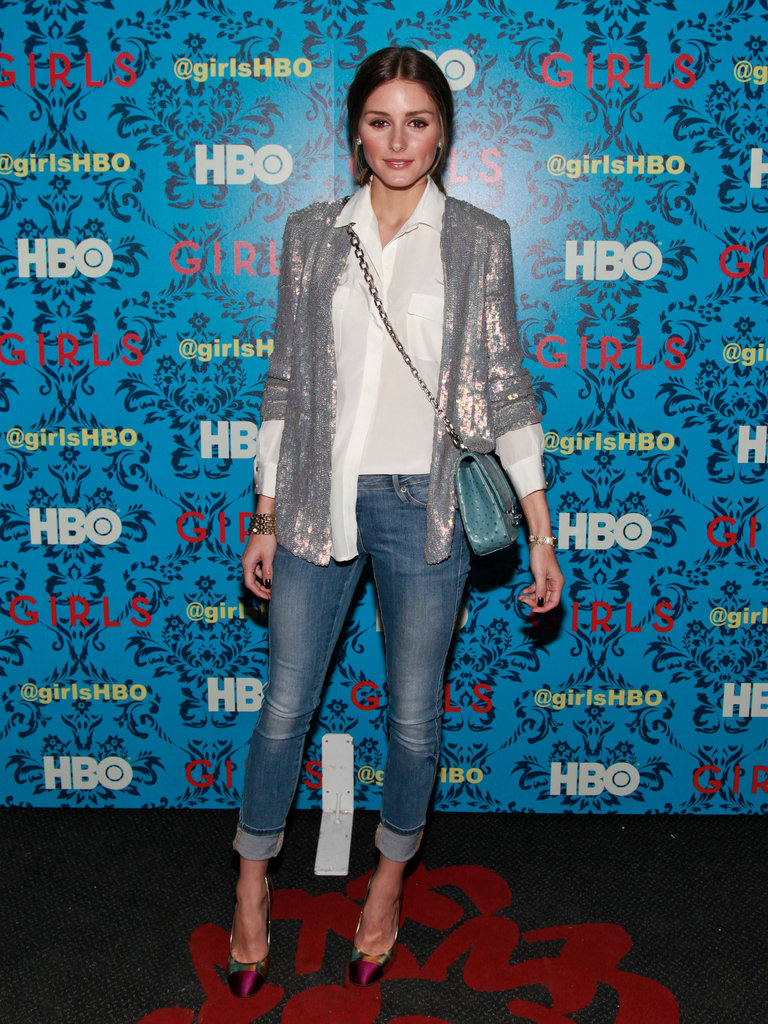 Olivia Palermo played her sequins just right at the HBO screening of Girls in NYC.