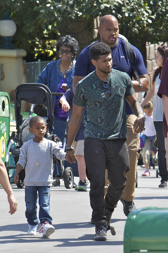 Usher Spends a Special Day at Disneyland With His Boys