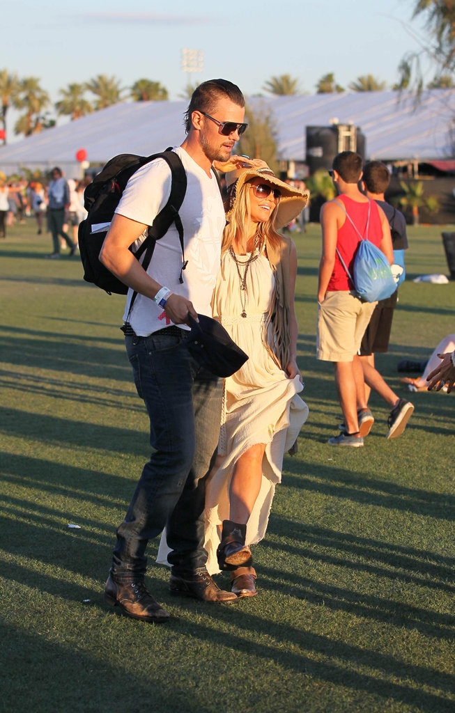 Fergie and Josh Duhamel strolled arm in arm around the festival.