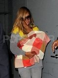 Beyonce Knowles carried daughter Blue Carter.