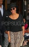 Beyoncé Knowles left Bar Pitti.