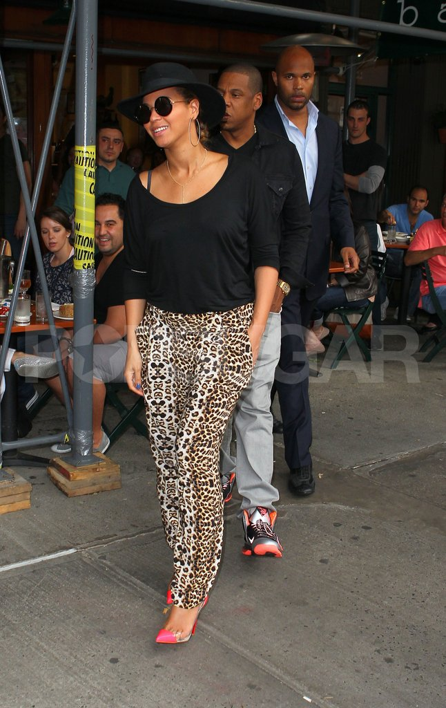 Beyoncé Knowles and Jay-Z ate at Bar Pitti.