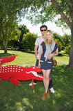 Diane Kruger and Joshua Jackson showed love at Lacoste's bash.