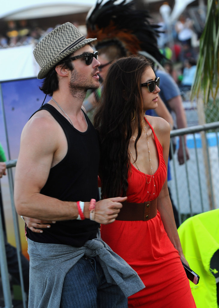 Nina Dobrev and Ian Somerhalder Show Sweet PDA at Coachella