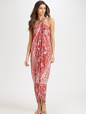 Gottex Swim porcelain sky silk cover-up ($188)