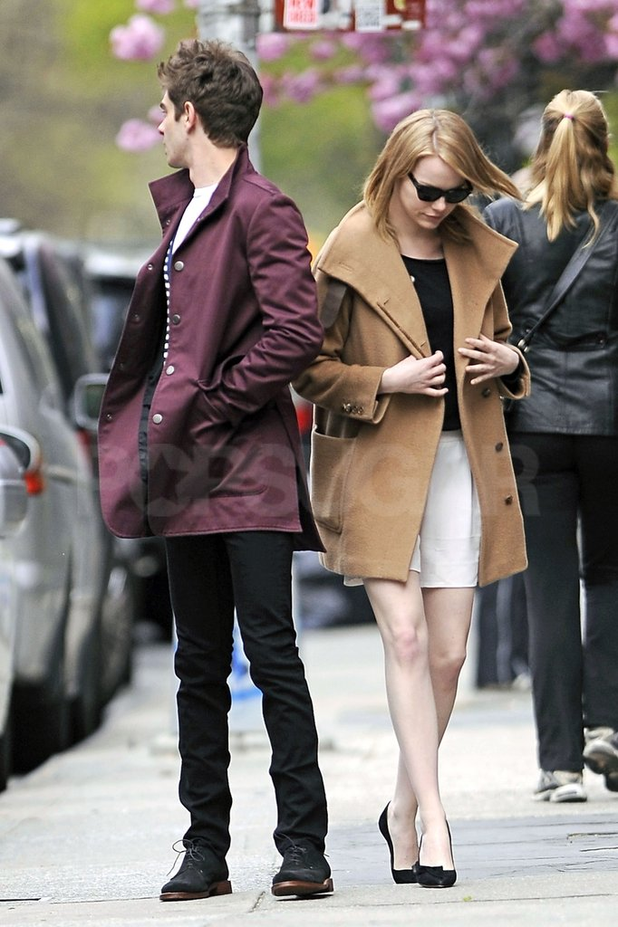 Emma Stone and Andrew Garfield took a stroll through an NYC neighborhood.