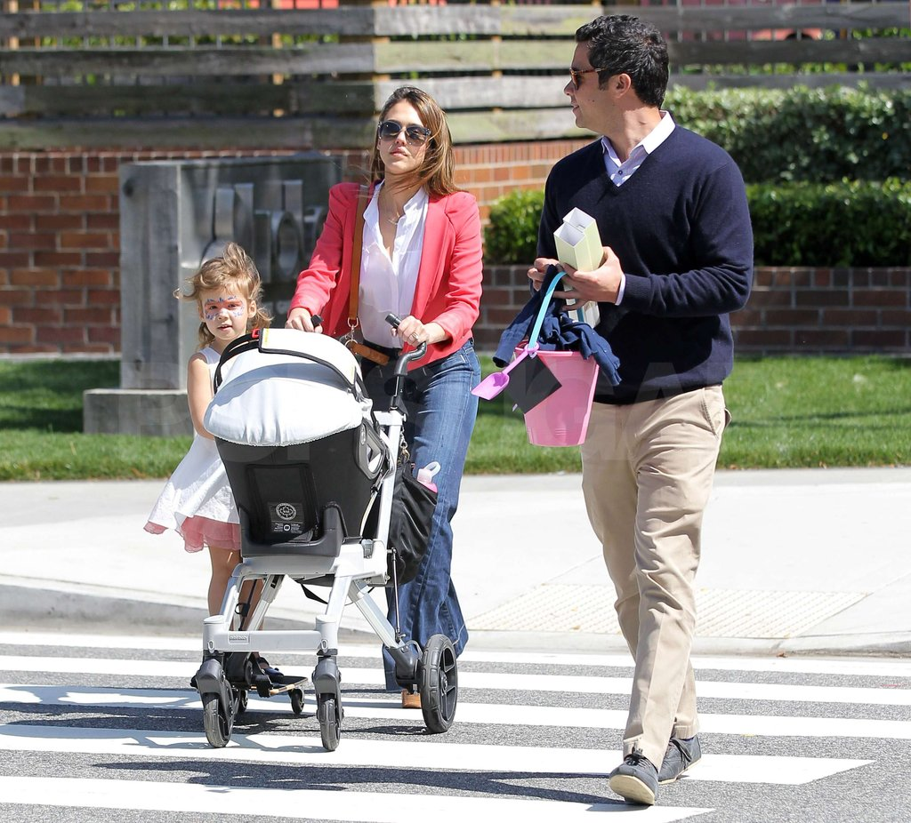Jessica Alba and the family took a stroll through Santa Monica together.