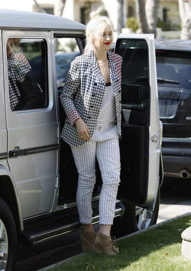 Gwen Stefani took a break from her busy schedule to visit her parents for Easter.
