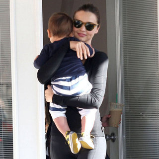 Miranda Kerr and Flynn at Yoga Class Pictures