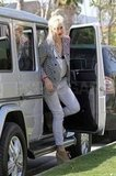 Gwen Stefani hopped out of the front seat to celebrate Easter with her family in Orange County.