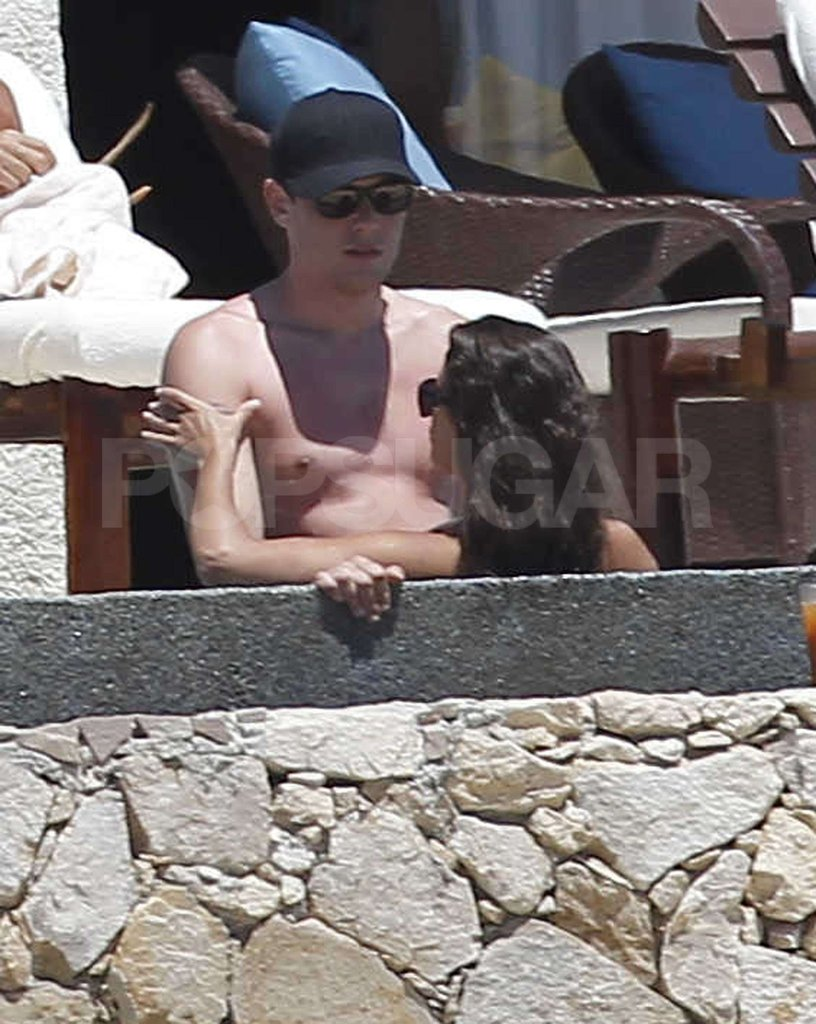 Lea Michele and Cory Monteith together in the pool in Cabo.